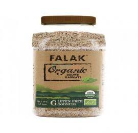 Falak Organic Brown Basmati Rice Bottle 1.5 Kg
