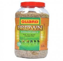 Guard Brown Basmati Rice Bottle 1.5 KG